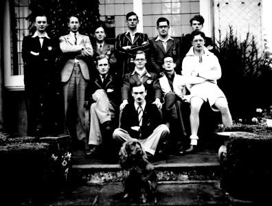 Harry (back, 2nd left) with fellow Downing students, 1938-40 (DCPP/DOO/1/3)