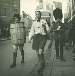 Harry during a Cambridge Rag procession, 1938-9 (DCPP/DOO/1/3)