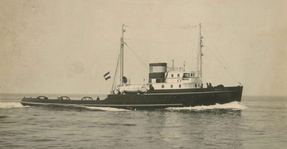The Roode Zee, on which Harry lost his life, April 1944