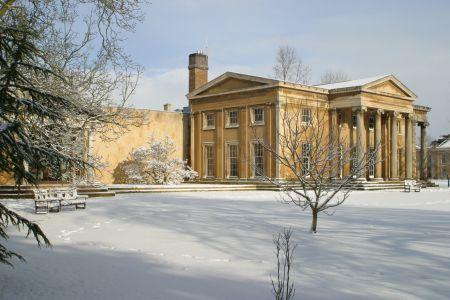 Snow in the Fellows' Garden