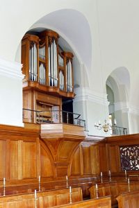 The completed organ in the Chapel