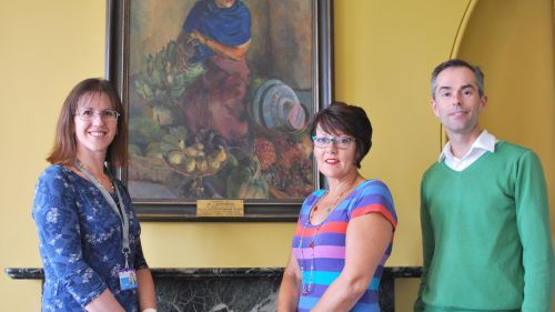 Family visit 'treasures in the College collection'
