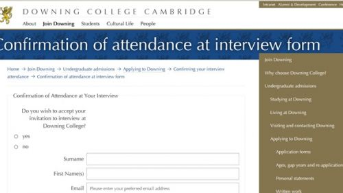 Confirming your interview attendance